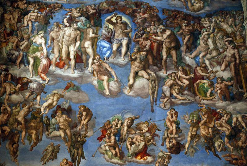 Vista del fresco El Juicio Final en la Capilla Sixtina, de Miguel Ángel en  El Vaticano - RT | Capilla sixtina, Pinturas de famosos, Pinturas