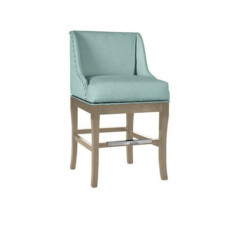 marcello counter stool with pewter nailhead trim kitchen counter rh pinterest com