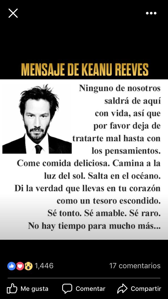 Keanu Reeves Frases Tratarte Bien Y Ser Tú Frases