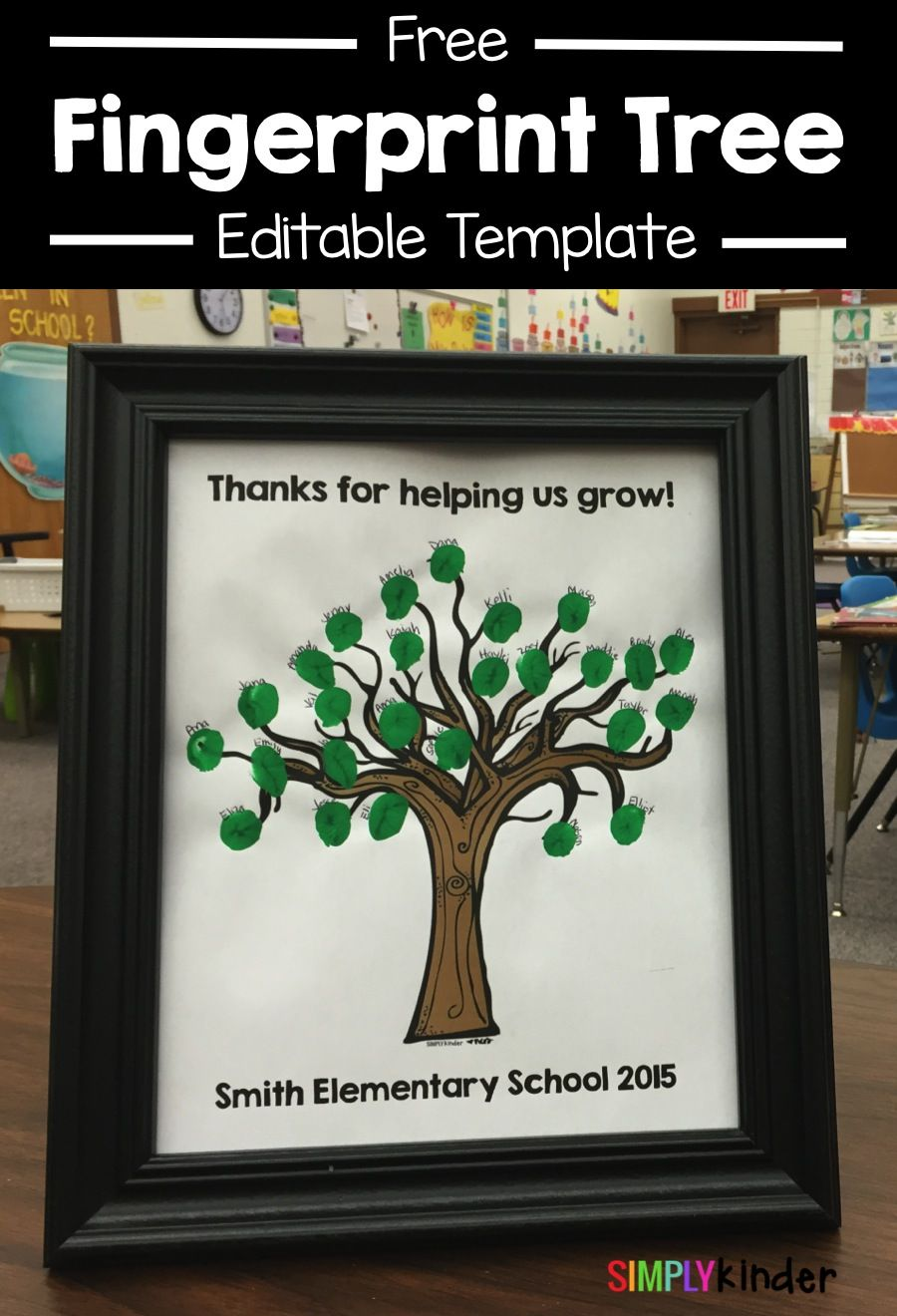 Thank You Gifts From Your Class | Pinterest | Fingerprint tree ...
