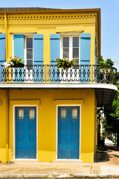 8x12 Print, Matted to 11x14- Bright Marigny Home in New Orleans  (Colors)