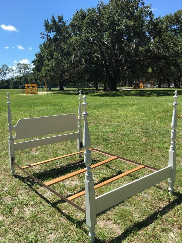 Antique double sized shabby chic bed frame in Jacksonville, FL (sells for $75)