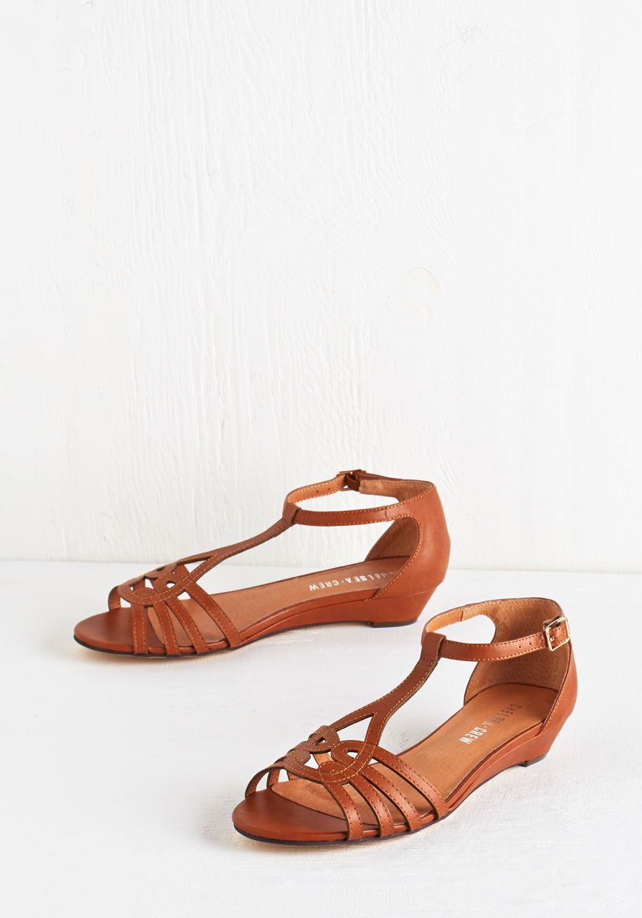 c07b999fe7852f Wanna Prance with Somebody Sandal in Cognac. Feel the heat as you skip down  the sunny boardwalk