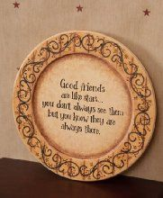 11-1//2-Inch Your Hearts Delight Simple Pleasures Wooden Decor Plate