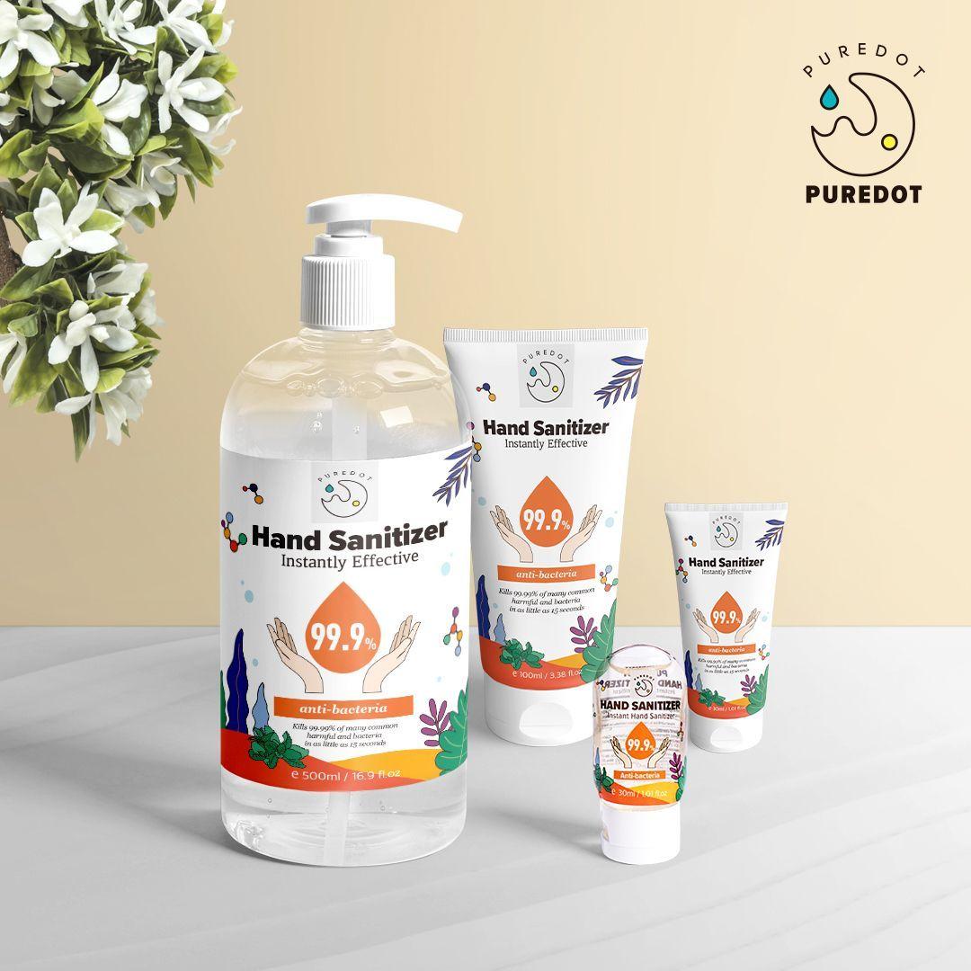 illust Package,puredot hand sanitizer, hand clean