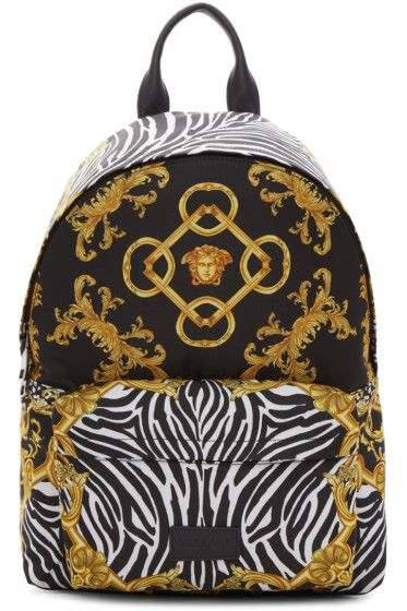 17724f499fab Versace - Black Nylon Medusa Backpack