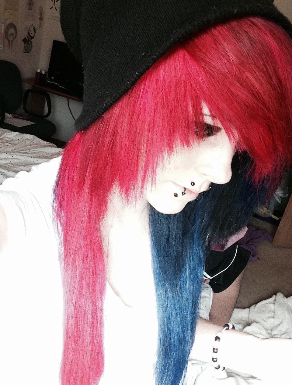 Scene girl hair of two or more colors cabello de dos o más