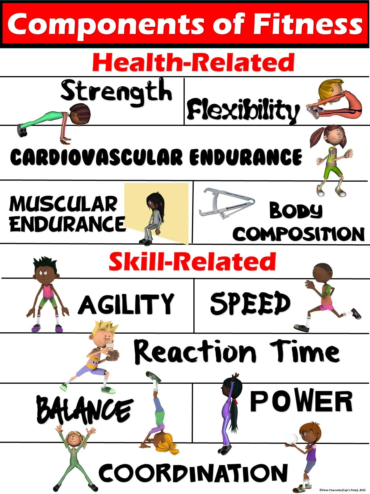 PE Poster: Components of Fitness- Health and Skill-Related | A ...