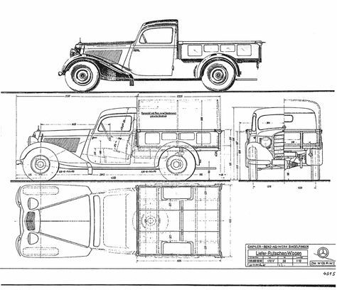 Mercedes benz 170v pickup blueprint woodtoys pinterest mercedes benz 170v pickup blueprint malvernweather Image collections