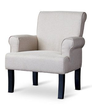 Another great find on #zulily! Beige Classics Collection Wing Chair by Baxton Studio #zulilyfinds