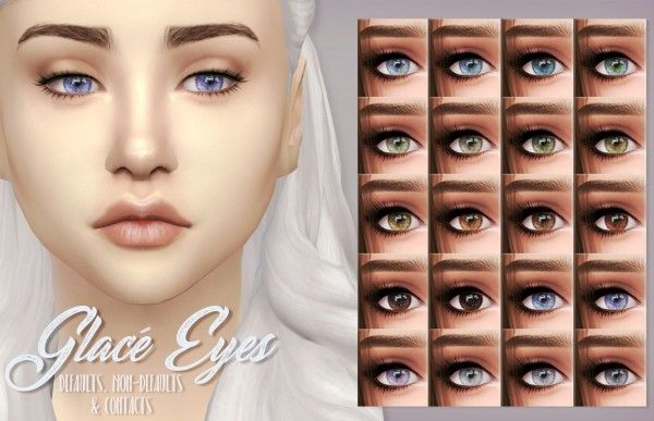 Mod The Sims: Glacé Eyes by kellyhb5 • Sims 4 Downloads Sims 4