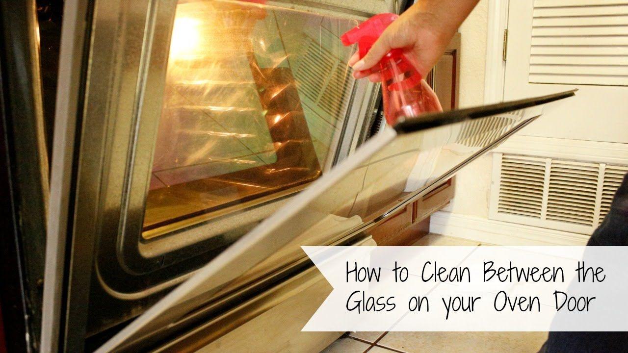 Glass How To Clean Between The On Your Oven Door