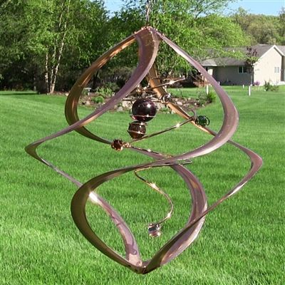 Spiral Planet Wind Spinner Wind Spinners Copper Wind Spinners Garden Wind Spinners