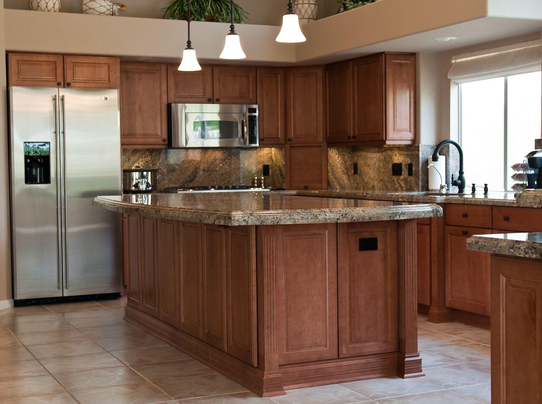 Wellborn Cabinets, Madison Square Door Style, Maple Wood, Medium Stain