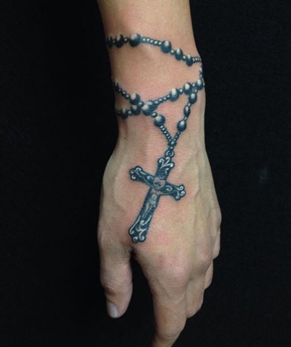 grey rosary tattoos gray