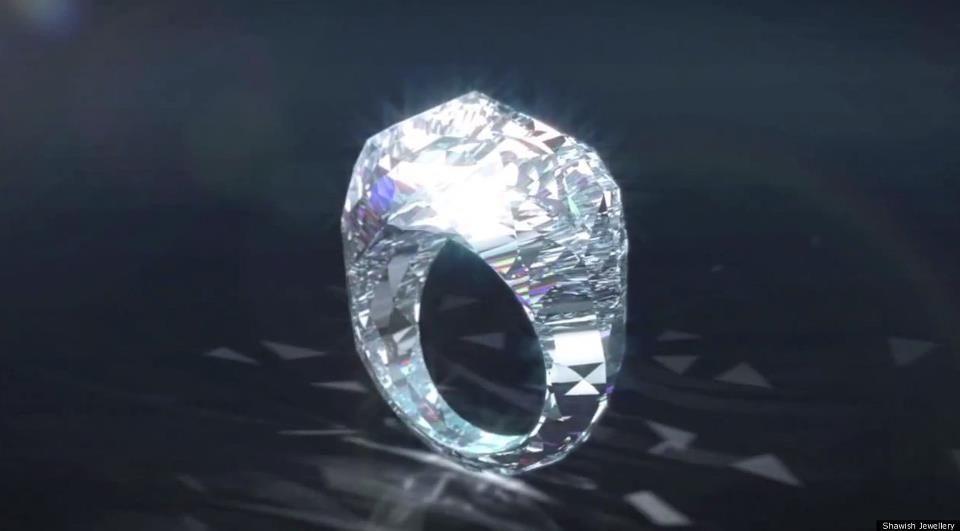 100 All Diamond Ring 150 Carats Valued At 68 Million Dollars Joyas Unicas Piedras Preciosas Anillos De Joyeria