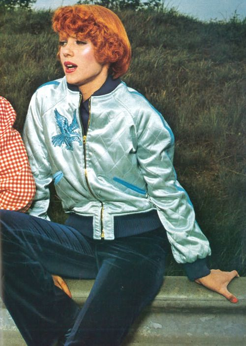 The Satin Baseball Jacket Was Required Fashion In The 70s Guy Bourdin Fashion 70s Fashion