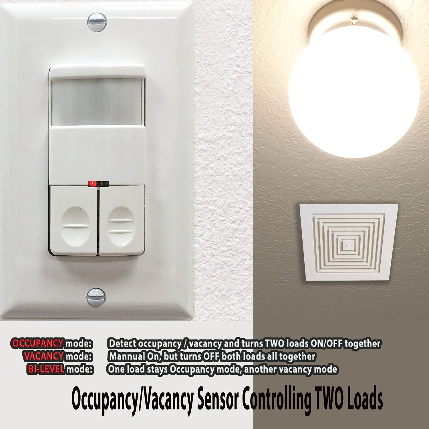 Topgreener tdos8 jd w dual relay load motion sensor switch topgreener tdos8 jd w dual relay load motion sensor switch commercial grade passive mozeypictures Gallery