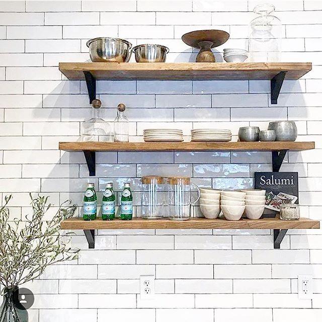 styled shelves russell basement white subway tile backsplash rh pinterest com