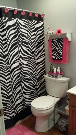 zebra pink bathroom my house things zebra bathroom bathroom rh pinterest com