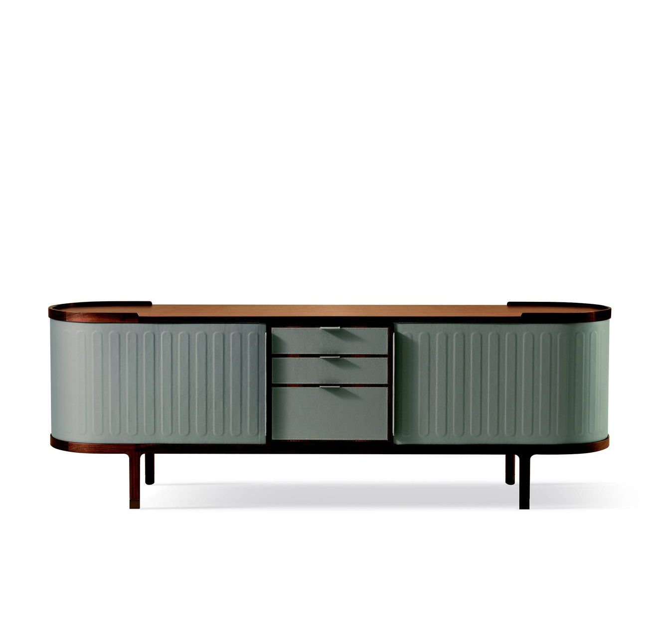 cabinet with sliding leather doors and the frame in solid wood and rh pinterest com
