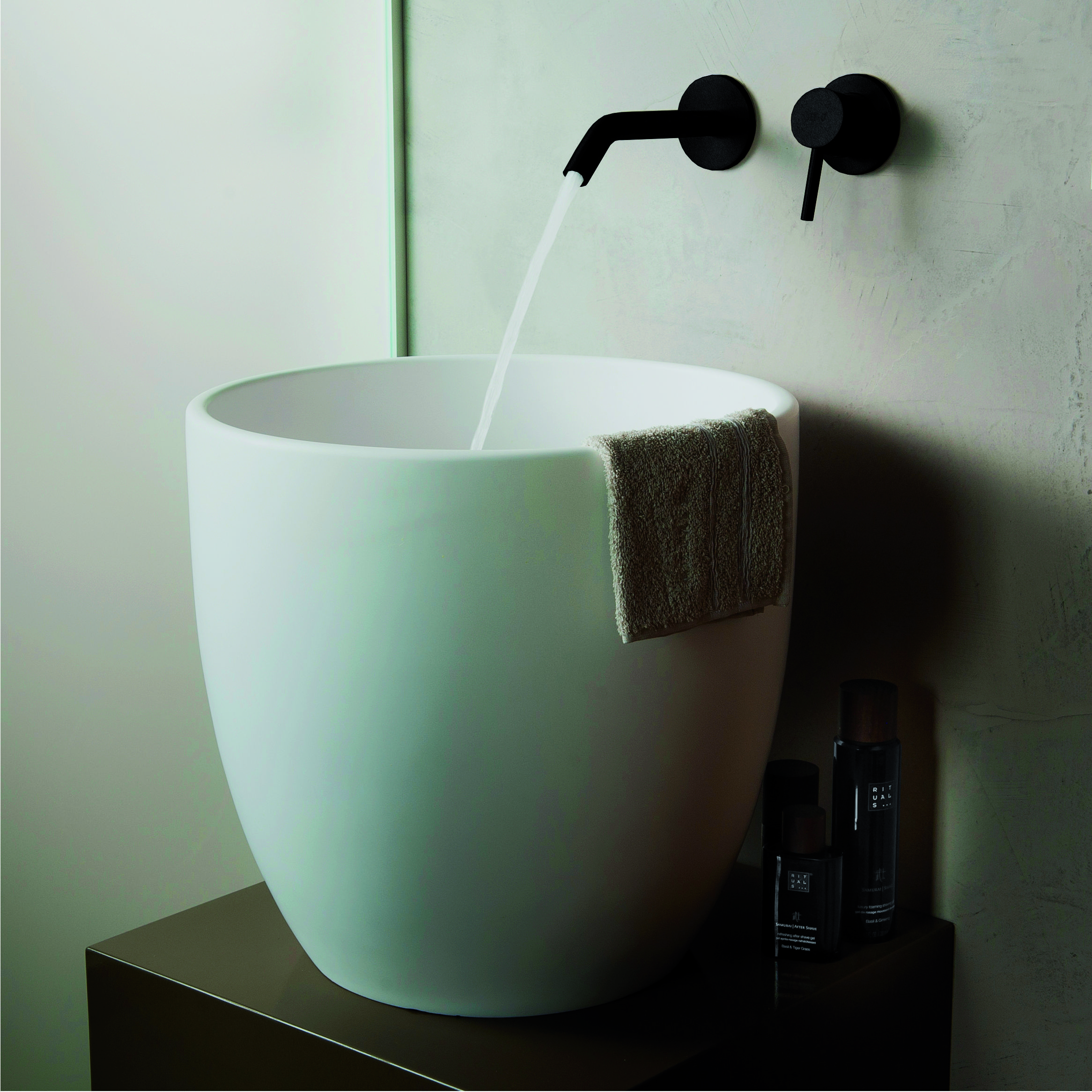 JEE-O slimline wall basin mixer – structured BLACK + JEE-O by DADO ...