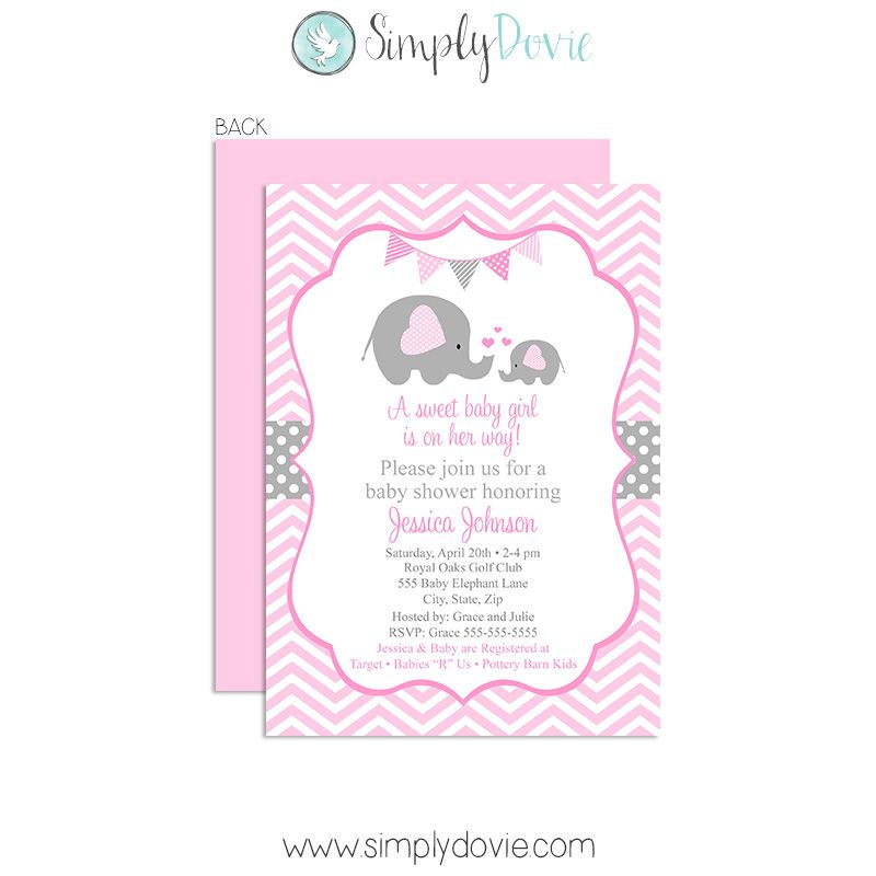 Our Elephant Girl Baby Shower Invitations Will Be The Perfect Way To Invite  Family And Friends