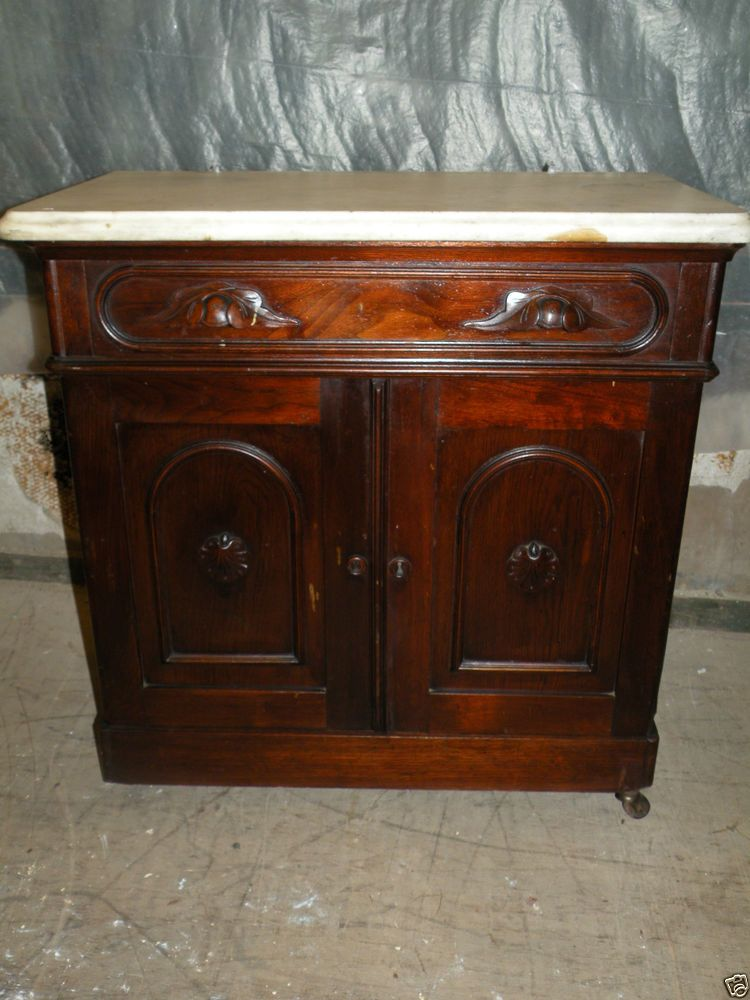 Gorgeous Antique Bedroom Marble Top Washstand Dresser