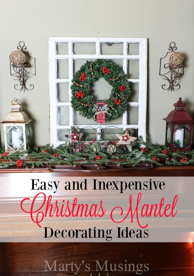 christmas mantel decorating ideas martys musings - Christmas Mantel Decorations For Sale