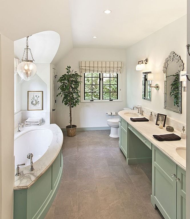 Traditional Master Bathroom Come Find More On Zillow Digs Green Bathroom Bathroom Design Bathroom Design Styles