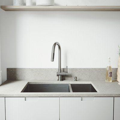 White Kitchen Sink Set