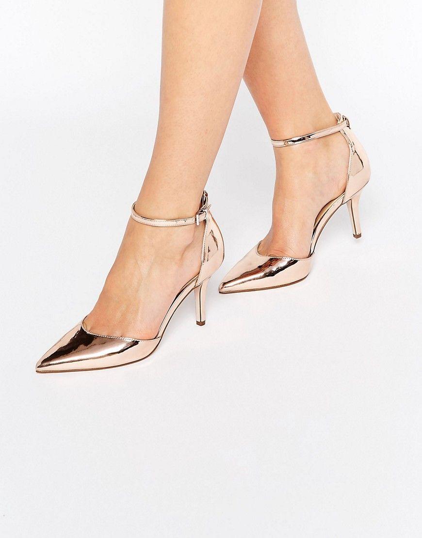 3b5dd24b5ca ASOS SCOUT Pointed Heels in nude metallic - heel   8cm  --------------------- 42.25€