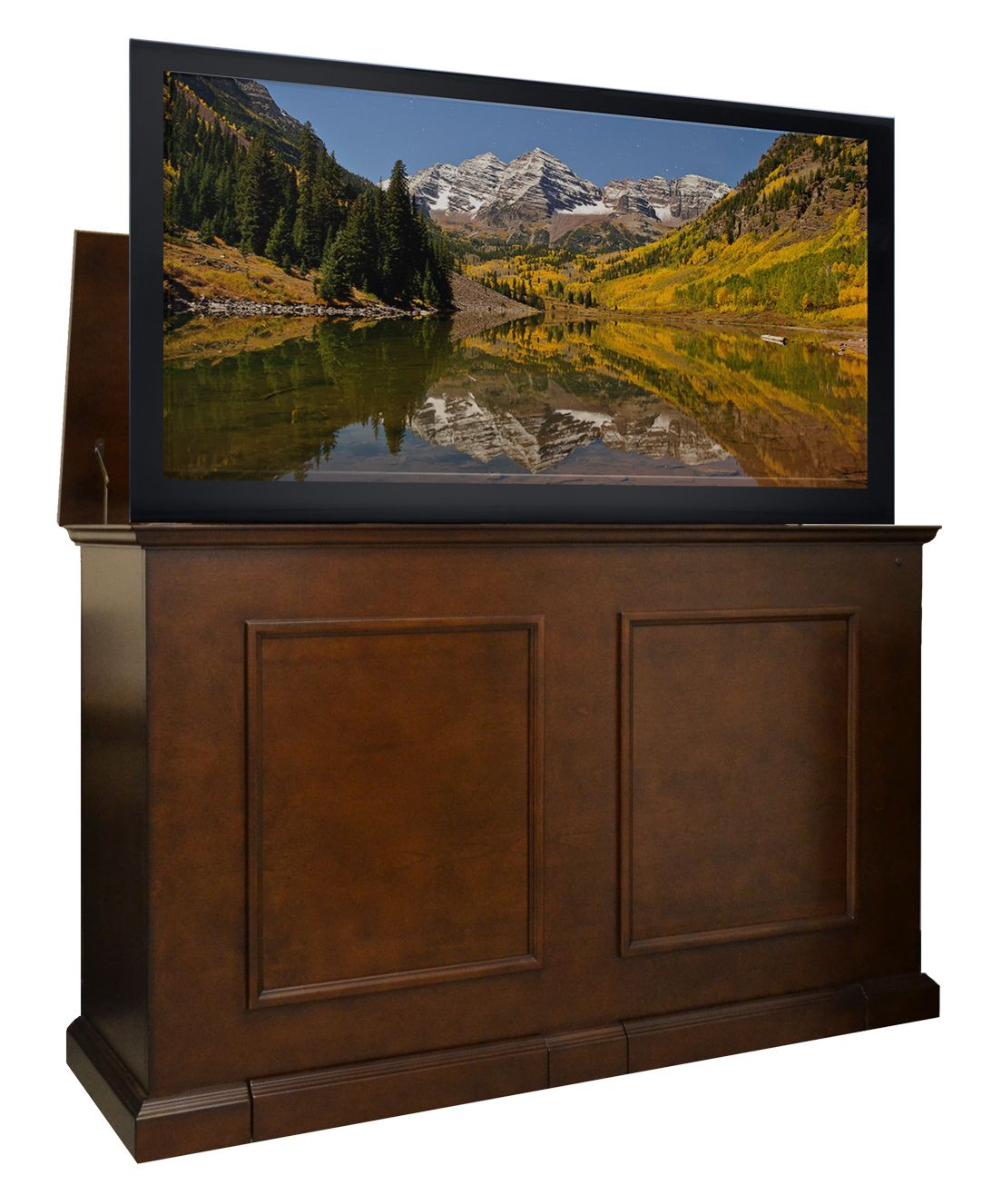 grand elevate 74008 espresso tv lift cabinet for 65 flat screen tvs rh pinterest com