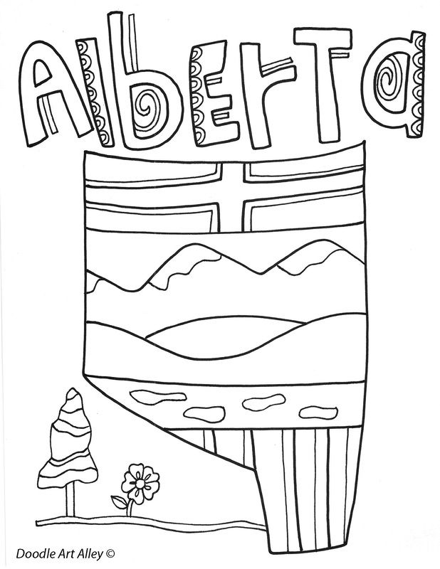 alberta coloring pages - photo#19