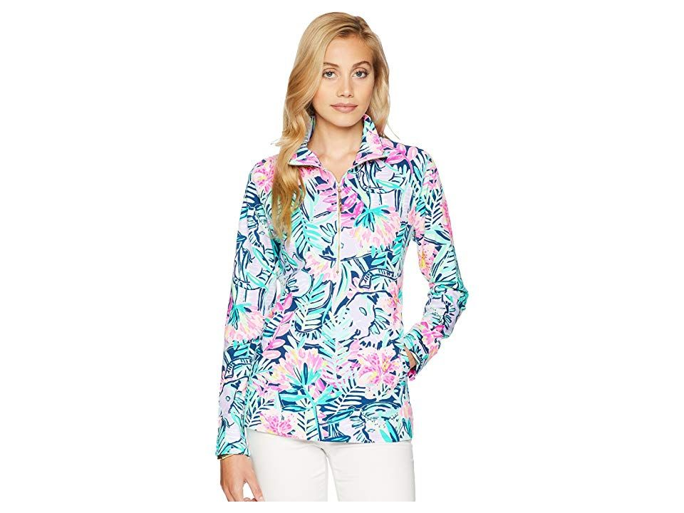 7b99c8a4f58804 Lilly Pulitzer UPF 50 Skipper Printed Popover (Multi Slathouse Soiree)  Women's Long Sleeve Pullover