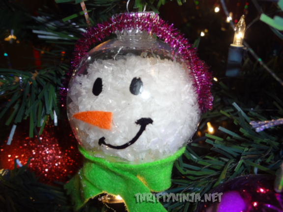 Clear Christmas Ball Ornament Crafts