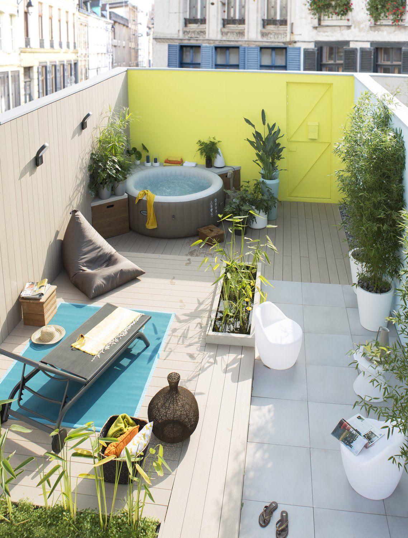Terrasse INTEX   Whirlpool garten, Gartendesign ideen, Whirlpool ...
