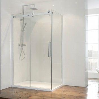 Frontline Aquaglass Frameless Sliding Shower Door With Optional