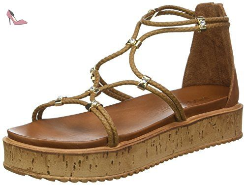 Inuovo 7163, Sandales Bout Ouvert Femme, Beige (Coconut), 38 EU