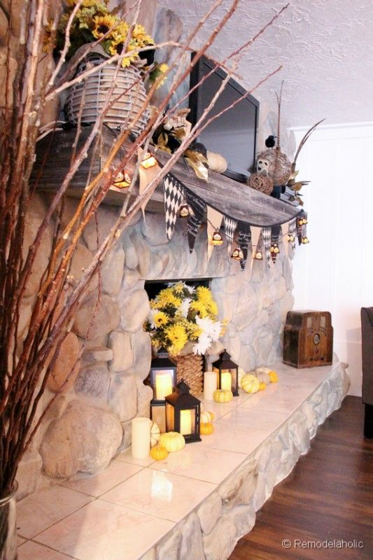 in Review, September 2013 Mantels and Halloween ideas