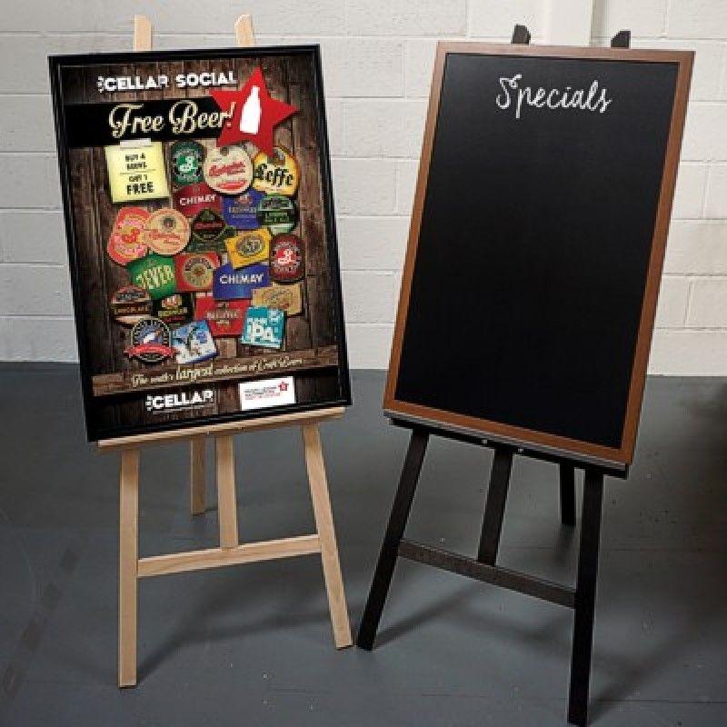 poster display stands wooden display