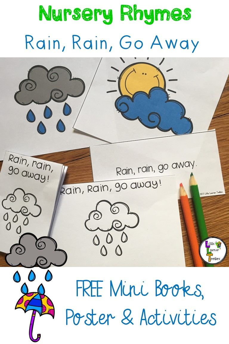worksheet Rain Rain Go Away Worksheet freebie explore the nursery rhyme rain go away with your away