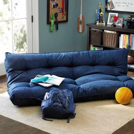 double flip floor lounger pbteen dorm room so college teen rh pinterest com