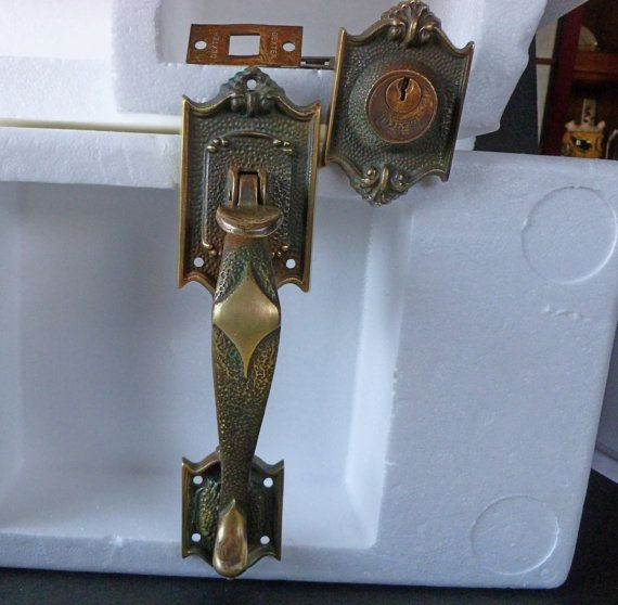 Vintage Dexter Brass Entry Door Lock Thumb latch, Pull Set | Entry ...