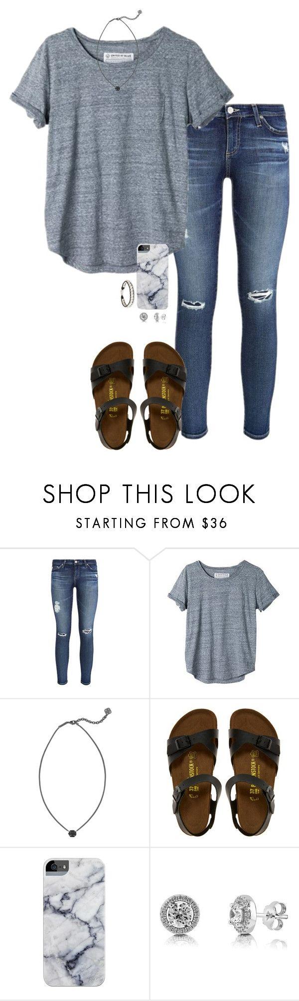 T Shirt Jeansbroek Sandalen Armband Ketting Cute Outfits