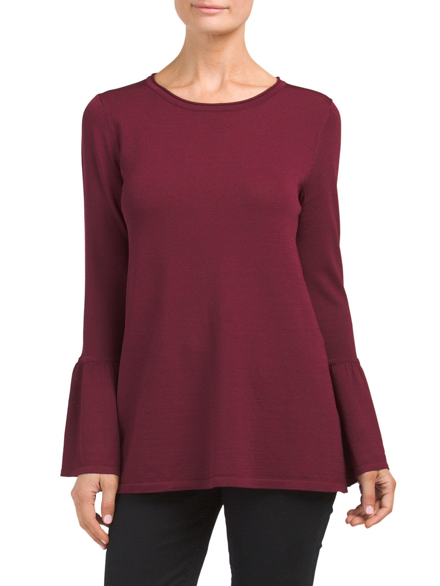 c58bdd810ca1d  24.99 - CUPIO Bell Sleeve Pullover Swing Sweater
