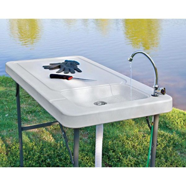 Outdoor Garden Sink Portable Camping Fish Folding Tools Farm
