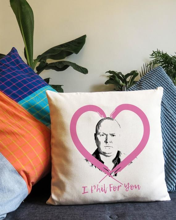 Eastenders Funny Cushion Unusual Weird Gift Phil Mitchell British Soap Super Fan Pun Heart