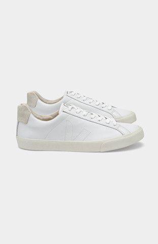 Esplar White Leather Trainers