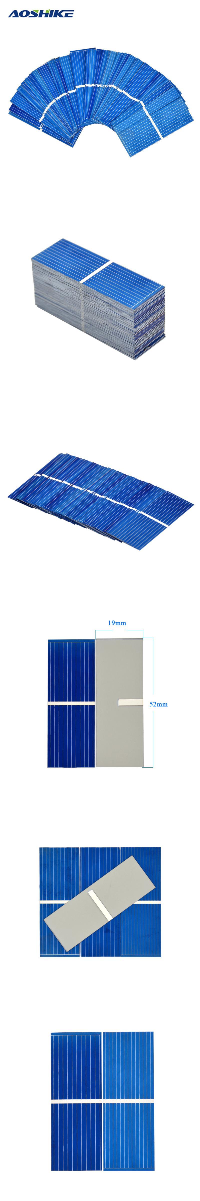 100pcs 0 5 v solar panel 52 19mm polycrystalline silicon